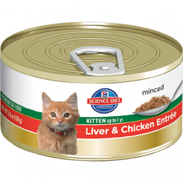 Science Diet Kitten up to 1 yr Liver & Chicken Entree 156g