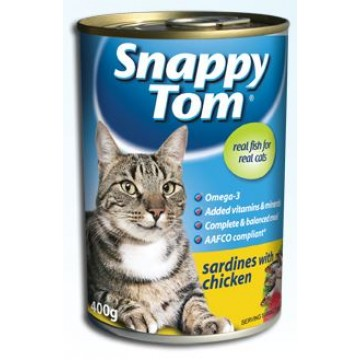 Snappy Tom Sardine with Chicken 400g Carton (24 Cans)