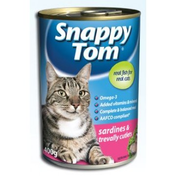 Snappy Tom Sardines & Treally Cutlets 400g
