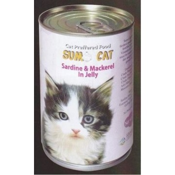 Sumo Cat Sardine & Mackerel in Jelly 400g Carton (24 Cans)