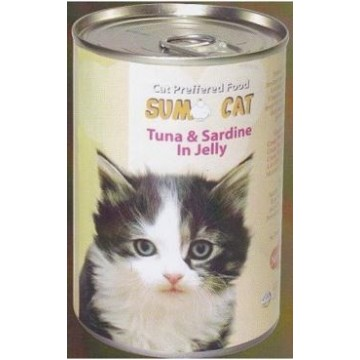 Sumo Cat Tuna and Sardine in Jelly 400g