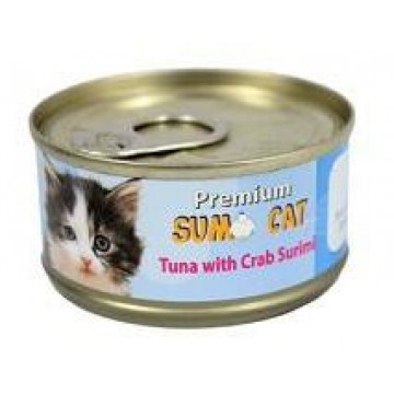 Sumo Cat Tuna with Crab Surimi 80g Carton (24 Cans)
