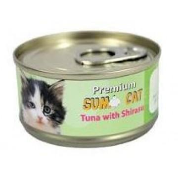 Sumo Cat Tuna with Shirasu 80g Carton (24 Cans)