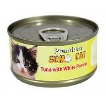 Sumo Cat Tuna with White Prawn 80g Carton (24 Cans)
