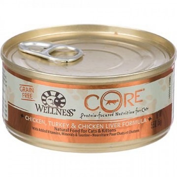 Wellness Core Hearty Cuts Shredded Whitefish & Salmon 156g Carton (12 Cans)