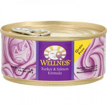 Wellness Natural Food Grain Free Turkey & Salmon 155g Carton (12 Cans)