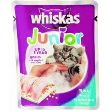 Whiskas Pouch Junior Tuna 85g Pack (24 Pouches)