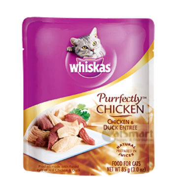 Whiskas Purrfectly Chicken & Duck Entree 85g
