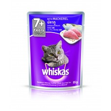 Whiskas Pouch 7+ With Mackerel 85g