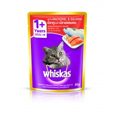 Whiskas Pouch Mackerel and Salmon 85g