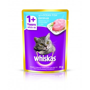 Whiskas Pouch Ocean Fish 85g Pack (24 Pouches)