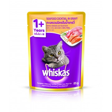 Whiskas Pouch Seafood Cocktail 85g Pack (24 Pouches)