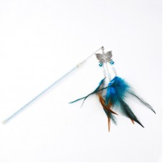 Dooee Butterfly Dangling Feather Teaser Blue