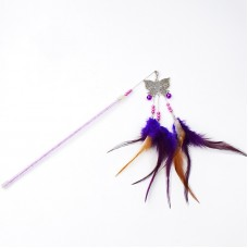 Dooee Butterfly Dangling Feather Teaser Purple