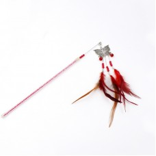 Dooee Butterfly Dangling Feather Teaser Red