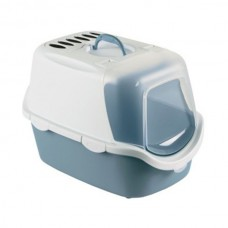 Zolux Cathy Easy Clean Hooded Litter Box Matt Blue