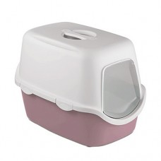 Zolux Cathy Filter Hooded Litter Box Matt Rose Grey