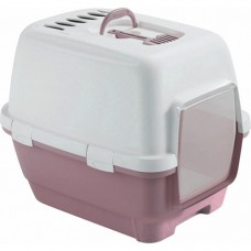 Zolux Cathy Comfort Hooded Litter Box Matt Rose Grey