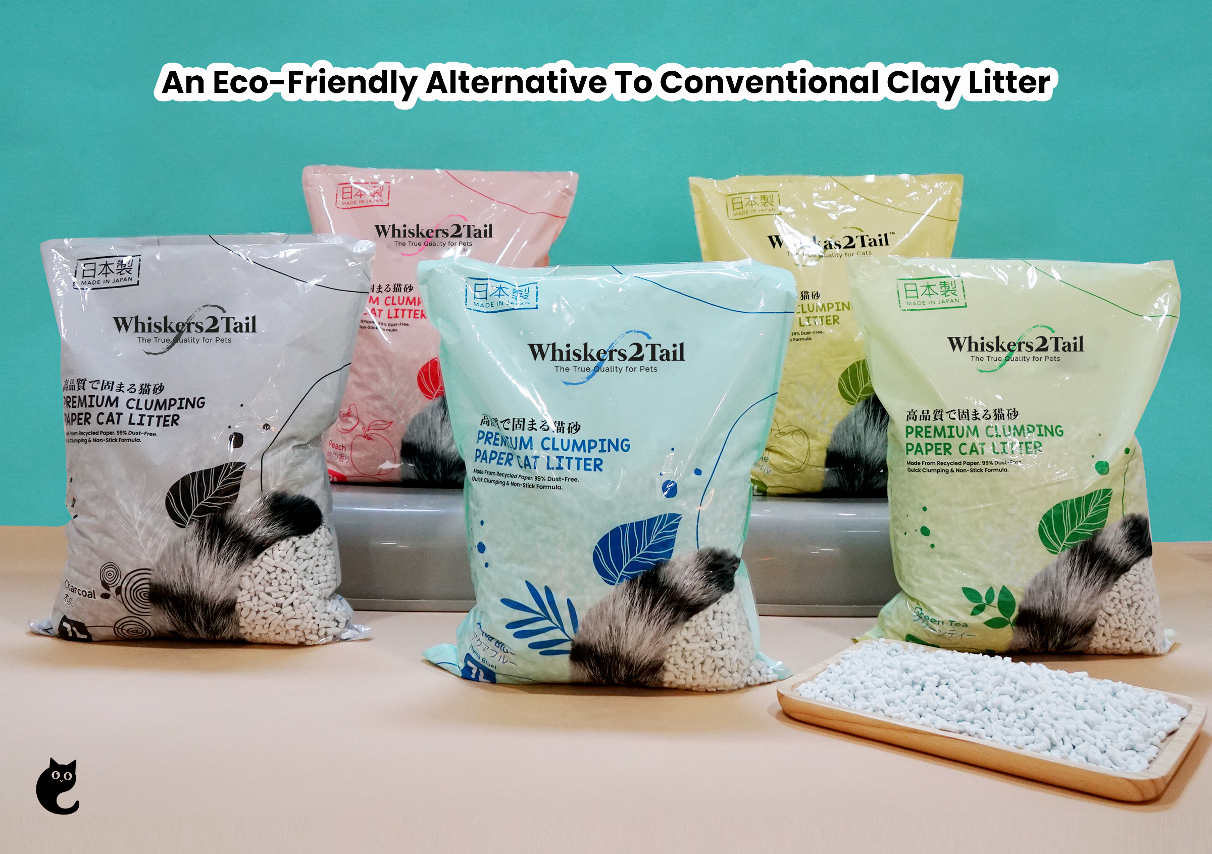 An Eco-Friendly Alternative To Conventional Clay Litter